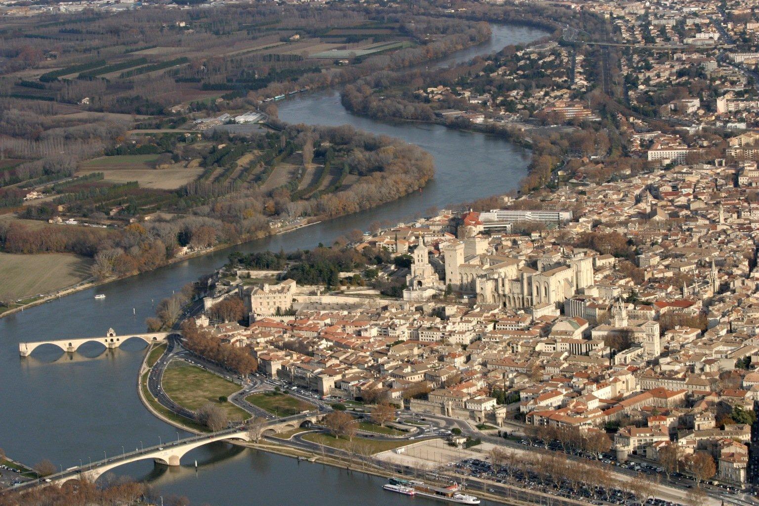 Vue aerienne Avignon